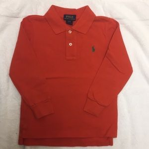 NWOT Orange Long Sleeve Polo Ralph Lauren Polo
